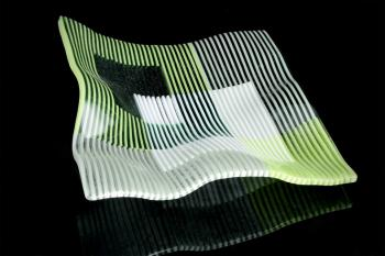 Green Stripes Bowl
